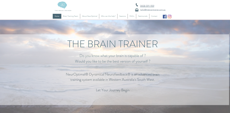 New Website for The Brain Trainer in Bunbury