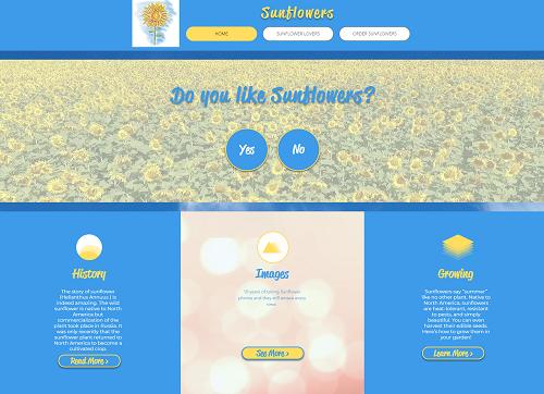sunflowers website project