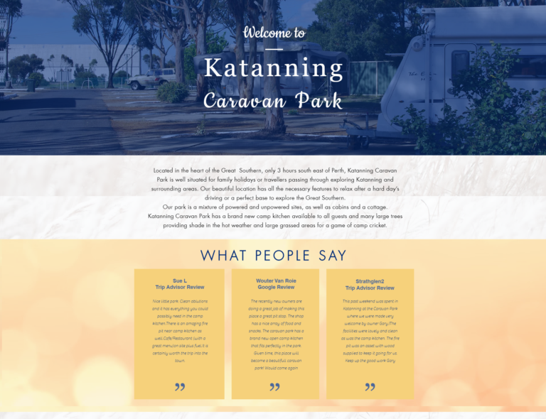 Katanning Caravan Park website project