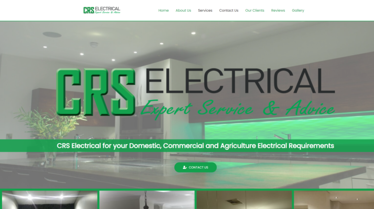 Website Live again for CRS Electrical of Donnybrook